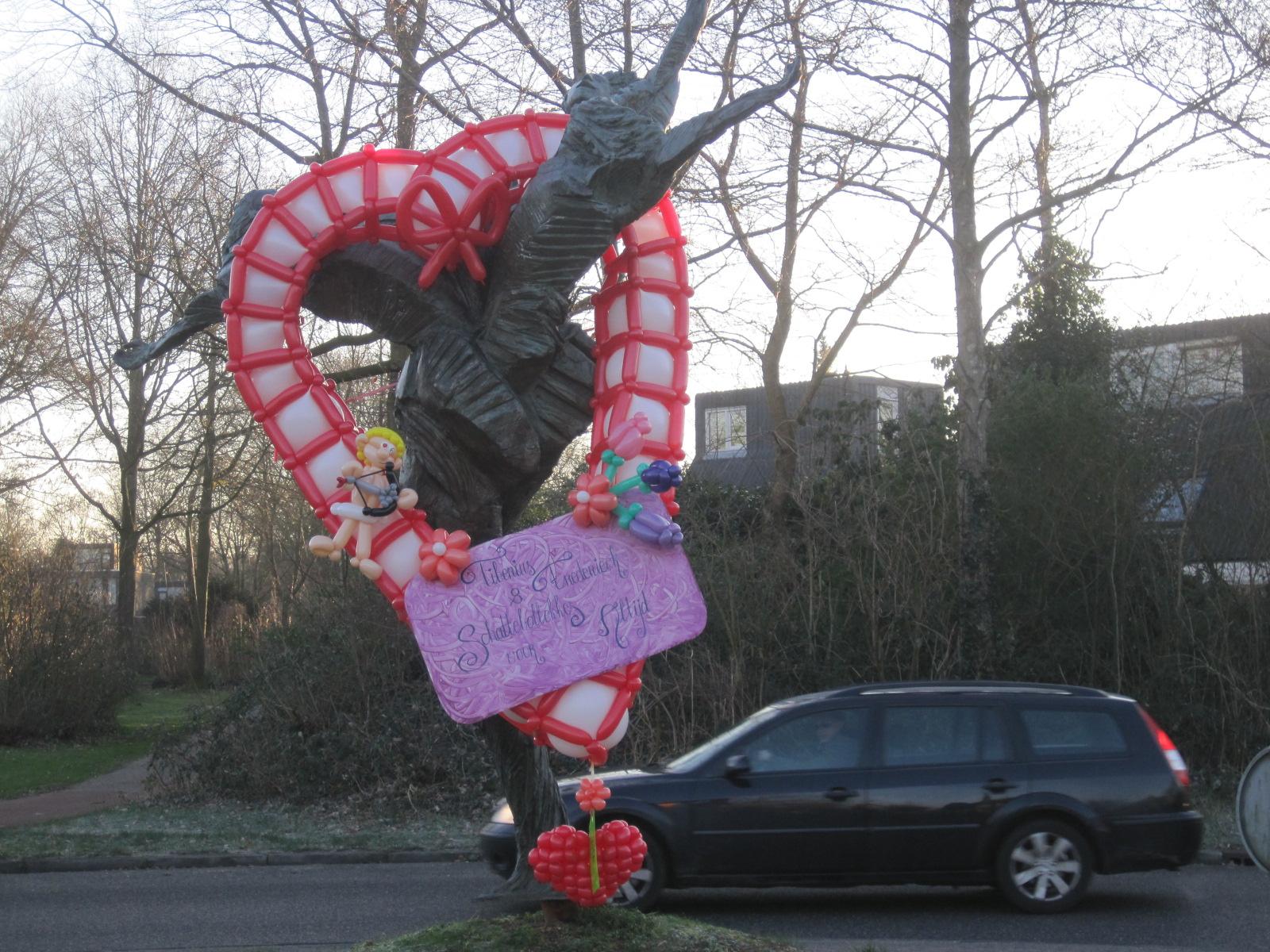 Valentijnshart in Leusden Haagscheblufballon.nl